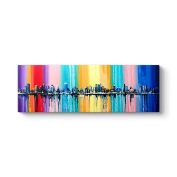 Renkli Şehir Silueti Tablosu