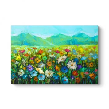 Kır Çiçekleri Manzara Tablosu