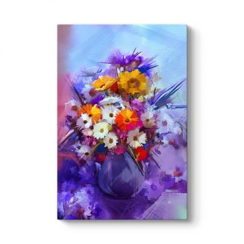Vazoda Çiçek Aranjmanı Tablosu