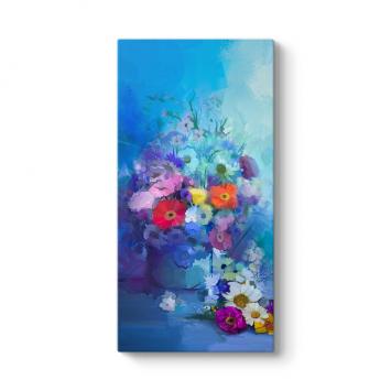 Gece Mavisi Çiçek Aranjmanı Tablosu