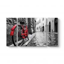 Dar Sokakta Kırmızı Bisiklet Tablosu