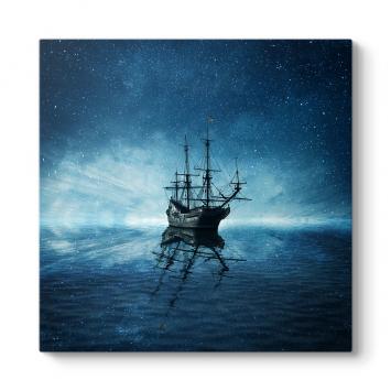 Yıldızlı Gökyüzü ve Gemi Tablosu
