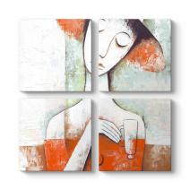Abstract Figüratif Tablo