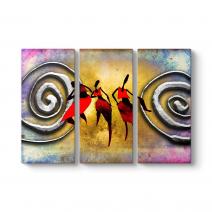 Afrikalı Dans Eden Kadınlar Tablo