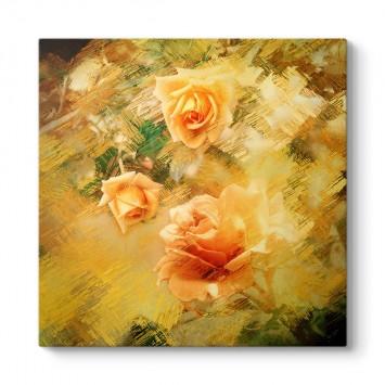Sarı Soyut Güller Tablosu