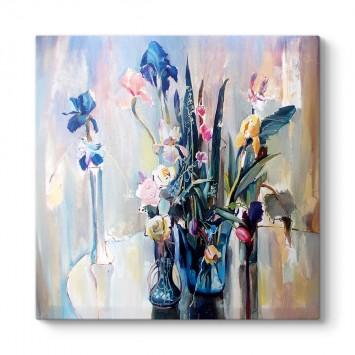 Vazolarda Çiçekler Tablosu