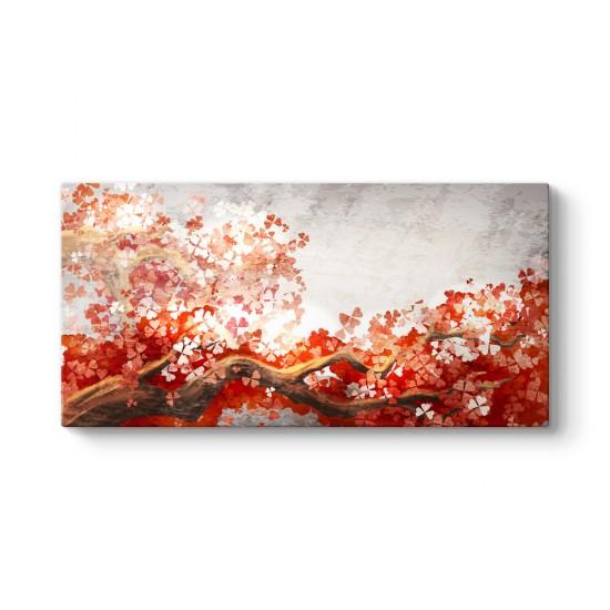 Red Color Tree Tablo