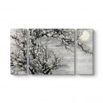 Ay ve Bağdem Çiçekleri Tablosu