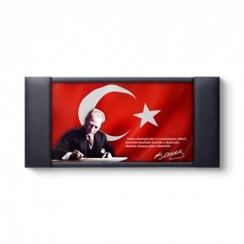 Atatürk - Makam Odası Deri Çerçeveli Tablo