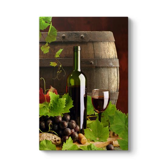 Kırmızı Şarap Fıçısı Tablosu