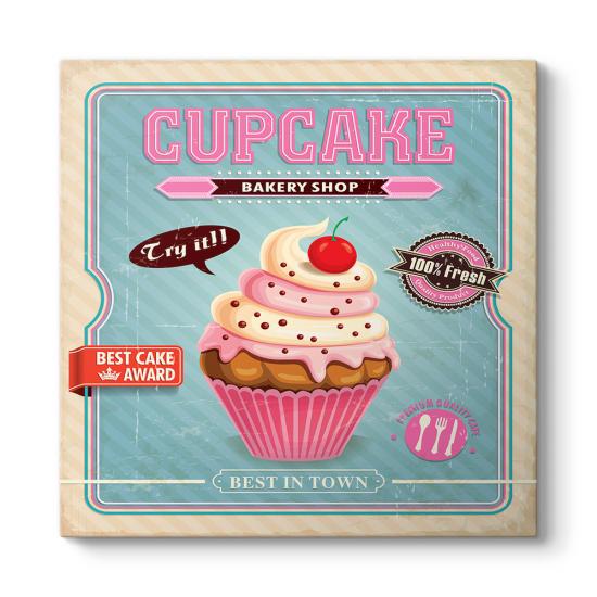 Cupcake Retro Tablo