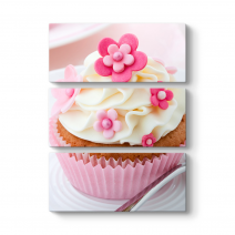 Cupcake Pembe Tablo