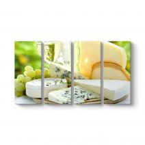 Beyaz Şarap ve Rokfor Peynir Tablosu