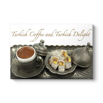 Türk Kahvesi ve Lokum Tablosu