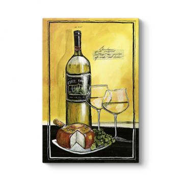 Beyaz Şarap Soyut Tablo