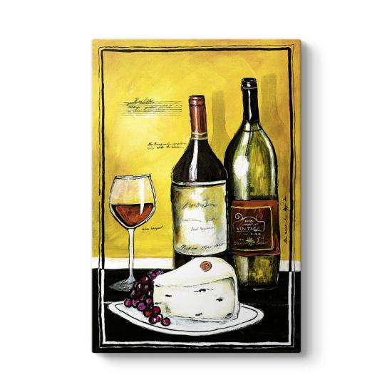 Kırmızı Şarap Yağlıboya 2 Tablo