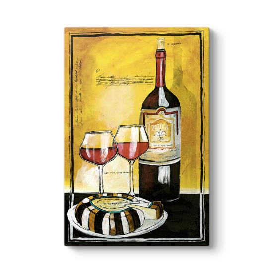 Kırmızı Şarap Yağlıboya Tablo