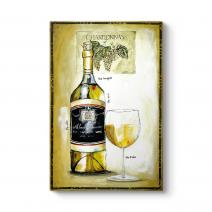 Beyaz Şarap Yağlıboya Tablo