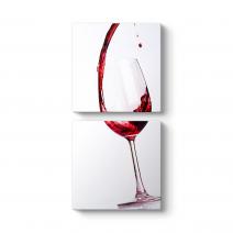 Kırmızı Şarap ve Kadeh Tablo