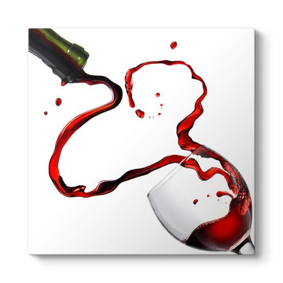 Dekoratif Kırmızı Şarap Tablosu