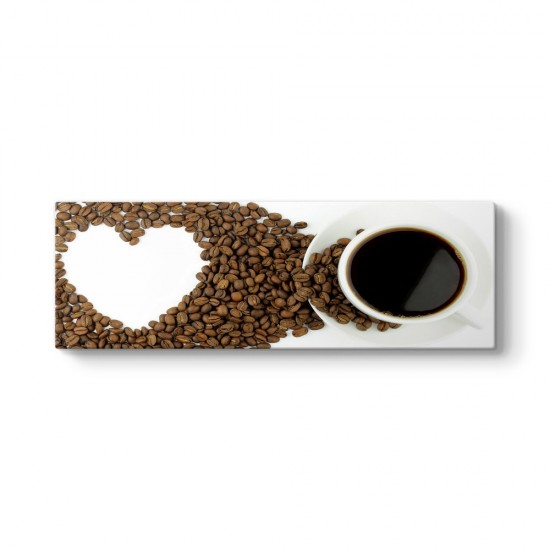 Kahve Sevgisi Panorama Tablo