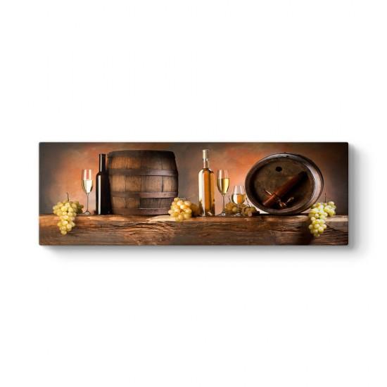 Beyaz Şarap Panorama Tablo