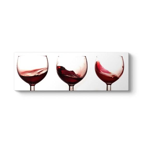 Şarap Kadehleri Panorama Tablo
