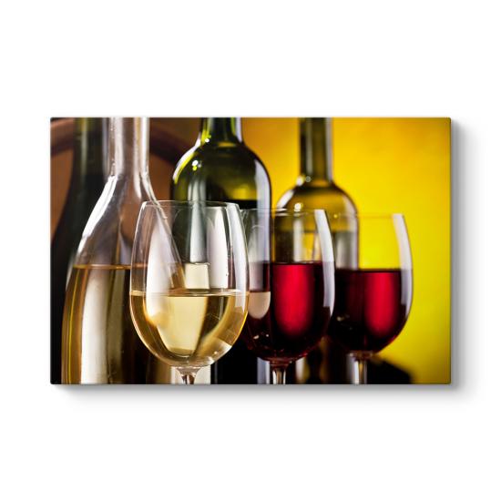 Şarap Kadehleri ve Şişeler Tablosu