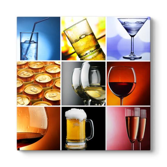 Alkollü İçecekler Kolaj Tablo