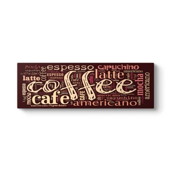 Kahve Tipografik Panorama Tablo