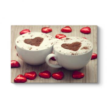 Sevgi Kahvesi Tablosu