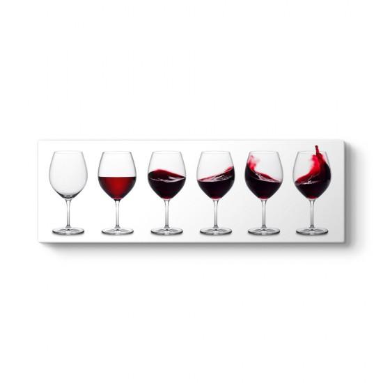 Şarap Bardağı Panorama Tablo