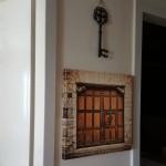 Eski Kahverengi Ahşap Kapı Tablosu